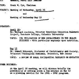 Announcements, 1961-04-20. ...