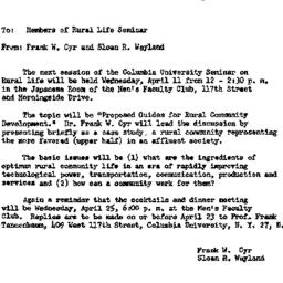 Announcements, 1962-04-06. ...