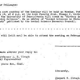 Announcements, 1958-02-12. ...