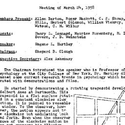 Minutes, 1958-03-24. Conten...