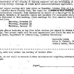 Announcements, 1960-10-20. ...