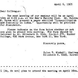 Correspondence, 1963-04-06....
