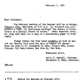Correspondence, 1964-02-07....