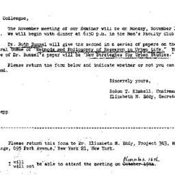 Correspondence, 1964-11-06....