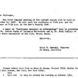 Correspondence, 1965-09-29....