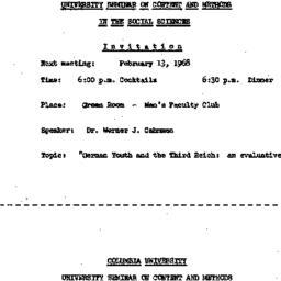 Announcements, 1968-02-13. ...
