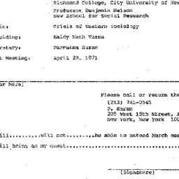 Announcements, 1971-03-24. ...