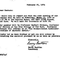 Correspondence, 1974-02-25....