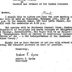 Correspondence, 1975-03-01....