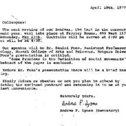 Correspondence, 1977-05-11....