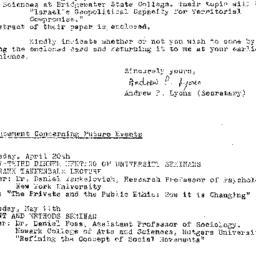 Announcements, 1977-04-13. ...
