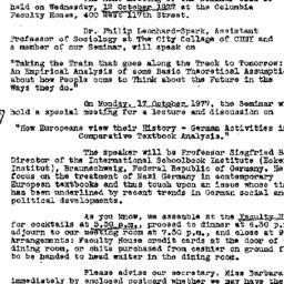 Correspondence, 1977-09-30....