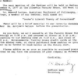 Correspondence, 1977-10-31....