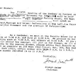 Announcements, 1983-12-14. ...