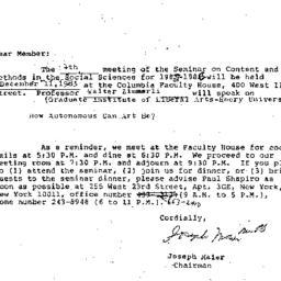 Correspondence, 1985-11-05....