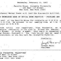 Announcements, 1987-02-11. ...