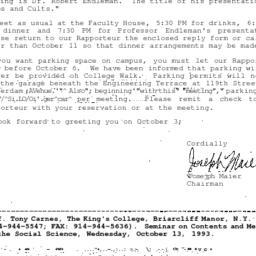 Correspondence, 1993-09-30....
