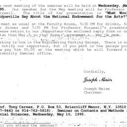 Correspondence, 1995-04-24....
