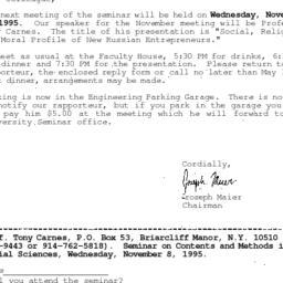 Correspondence, 1995-10-24....