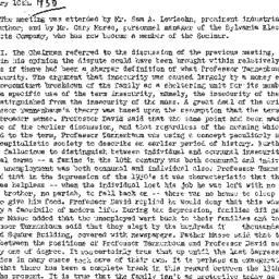 Minutes, 1950-01-10. Labor,...