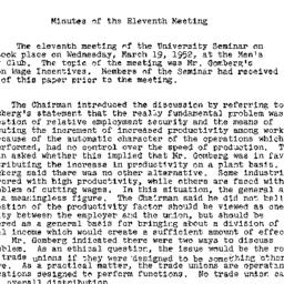 Minutes, 1952-03-11. Labor,...