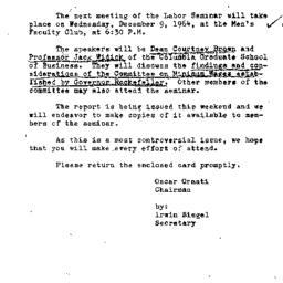 Announcements, 1964-12-09. ...