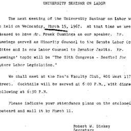 Announcements, 1967-02-27. ...
