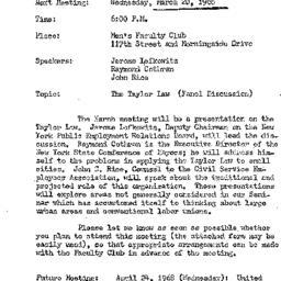 Announcements, 1968-03-20. ...