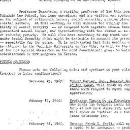 Announcements, 1967-11-27. ...