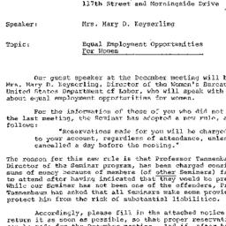 Announcements, 1968-12-18. ...