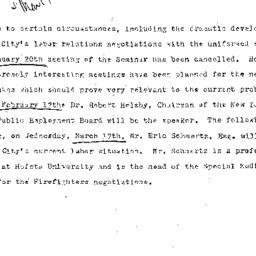 Announcements, 1971-01-20. ...