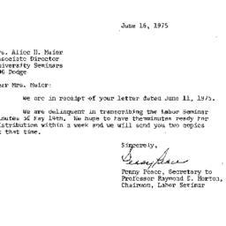 Correspondence, 1975-06-16....