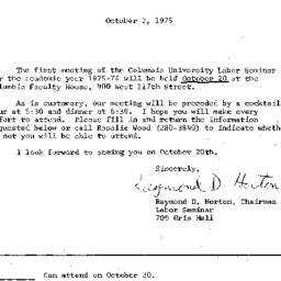 Announcements, 1975-10-02. ...