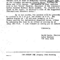 Announcements, 1977-01-03. ...