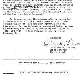 Announcements, 1977-02-07. ...