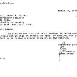 Correspondence, 1979-03-30....