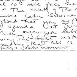 Correspondence, Labor, semi...