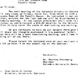 Announcements, 1985-03-01. ...
