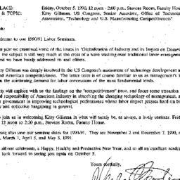 Announcements, 1990-09-28. ...