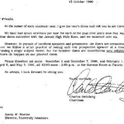 Announcements, 1990-10-15. ...