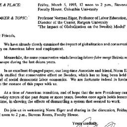 Announcements, 1993-02-19. ...