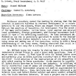 Minutes, 1957-01-08. Develo...