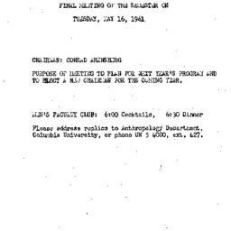 Announcements, 1961-05-16. ...