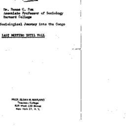 Announcements, 1964-05-12. ...