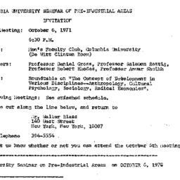 Announcements, 1970-10-06. ...