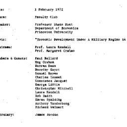 Minutes, 1972-02-01. Develo...