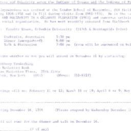 Announcements, 1974-12-14. ...