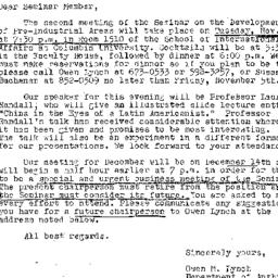Announcements, 1976-11-09. ...