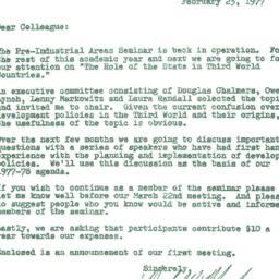 Announcements, 1977-02-23. ...