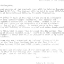 Announcements, 1978-05-23. ...